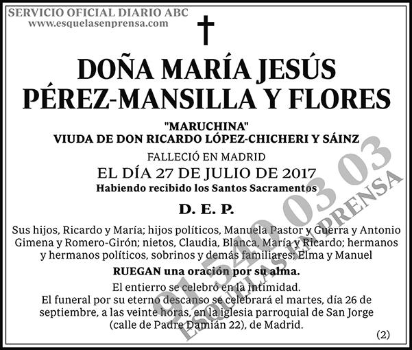 María y Jesús Pérez-Mansilla y Flores